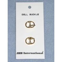 "Buckle - 1_4"" Plain Oval Gold"