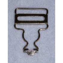 "Buckle - Overall - 1.25"" Nickel Pkg_2 Pr"