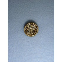 "Buttons - 5_8"" Shank - Antique Gilt Pkg_12"