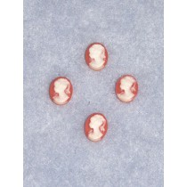 Cameo - Peach_White - 8mm x 10mm - Pkg_4