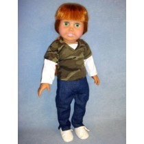 "|Camo T-Shirt & Jeans for 18"" Doll"