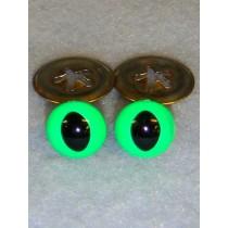 Cat Eye - 12mm Bright Green Pkg_100