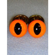 Cat Eye - 12mm Bright Orange Pkg_100