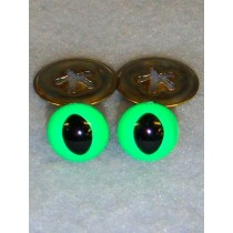 Cat Eye - 15mm Bright Green Pkg_100