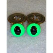 Cat Eye - 15mm Bright Green Pkg_100