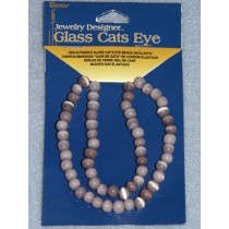 Cats Eye Bead Strands - 6mm Purple 12""