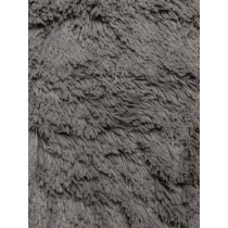 Charcoal Shaggy Cuddle Fabric - 1 Yd
