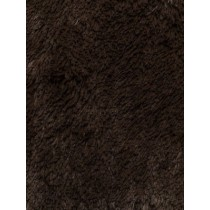 Chocolate Shaggy Cuddle Fabric - 1 Yd