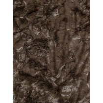 Chocolate Soft Cuddle Crush Fabric - 1 Yd