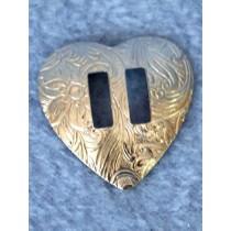 "Concho - Silver Heart - 1"" Pkg_12"