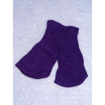 "Cotton Socks for 18"" Dolls - Purple"