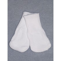 "Cotton Socks for 18"" Dolls - White"