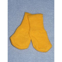"Cotton Socks for 18"" Dolls - Yellow Orange"