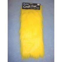 "Craft Fur - Yellow 9"" x 12"