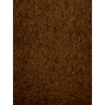 Curly Matted Finish Mohair - Antique Brown