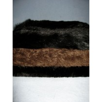 Dark Colored Fur Fabric Bundle - 3 Yds