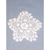 "Doily - Pineapple - 4"" White"