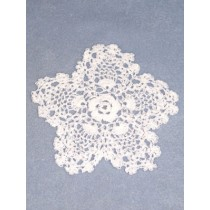 "Doily - Pineapple - 6"" White"