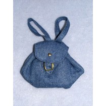 "Doll Backpack - 4"" x 4"" Denim Blue"