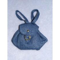"Doll Backpack - 4"" x 4"" Denim Blue"