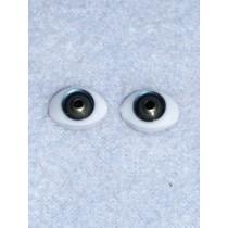 Doll Eye - 12mm Blue_Green Flat Back 2 Pr