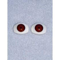 Doll Eye - 14mm Brown Flat Back 2 Pr