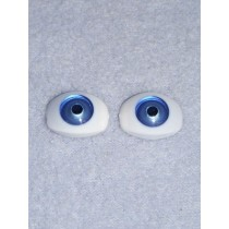 Doll Eye - 15mm Blue Flat Back 2 Pr