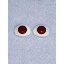 Doll Eye - 15mm Brown Flat Back 2 Pr