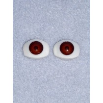 Doll Eye - 15mm Brown Flat Back 2 Pr