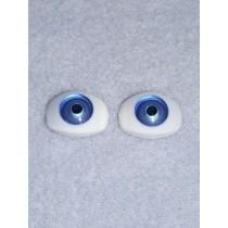 Doll Eye - 6mm Blue Flat Back 4 pr