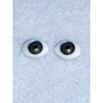Doll Eye - 7mm Blue_Green Flat Back 4 pr