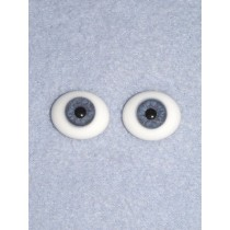 Doll Eye - Flat Back Glass - 16mm Blue