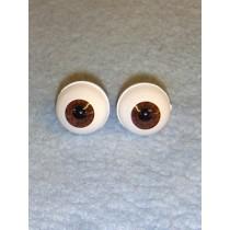 Doll Eye - Real Eyes - 14mm - Dark Brown
