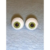 Doll Eye - Real Eyes - 14mm - Green (Ocean)