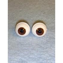 Doll Eye - Real Eyes - 18mm - Dark Brown
