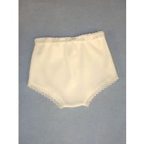 "Doll Panties - White - 23"" Dolls"