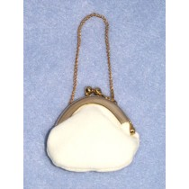 "Doll Purse - 2"" Cream Plush"