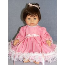 "Dress -Pink w_Lace Trim 19-22"" Doll"