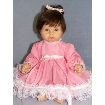 "Dress - Pink w_Lace Trim 19-22"" Doll"