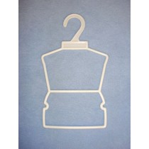 "Dress_Skirt Hangers - 7"" White - Pkg_12"