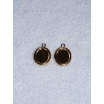 Earring Settings for Cameos - Gold - Pk_4