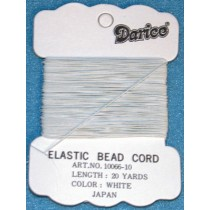 Elastic Thread - White - Pkg_20 Yds