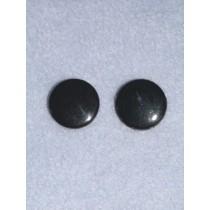 Eye - Flat Sew-On 12mm Black Pkg_100