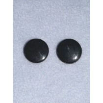 Eye - Flat Sew-On 8mm Black Pkg_100