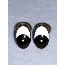 Eye - Oval 10mm Black_White (25 Pair) Pkg_50