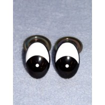 Eye - Oval 10mm Black_White Pkg_6