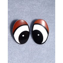 Eye - Oval 15mm Black_Brown Pkg_50