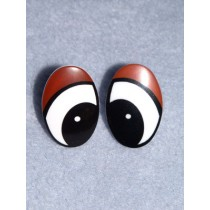 Eye - Oval 15mm Black_Brown Pkg_6