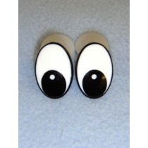 Eye - Oval 25mm Black_White (25 pair)  Pkg_50