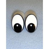 Eye - Oval 25mm Black_White (25 pair)  Pkg_50
